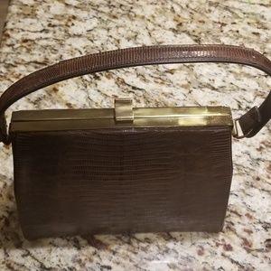 Vintage genuine reptile handbag